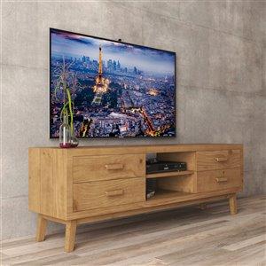 Urban Woodcraft Citation TV Stand - 66.5-in - Antique Pine