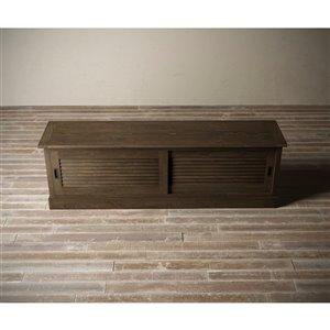 Urban Woodcraft Santorini TV Stand - 75-in - Pine - Salvaged Espresso