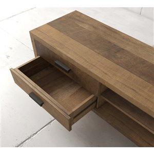Urban Woodcraft Citation TV Stand - 66.5-in - Asian Hardwood