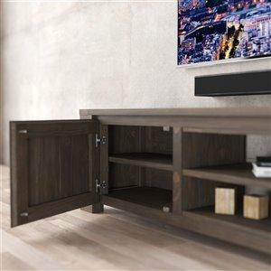 Urban Woodcraft Milan TV Stand - 71-in - Pine - Salvaged Espresso