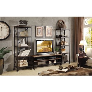 Sunset Trading Elm Industrial Entertainment Center - 23-in x 60-in - Black
