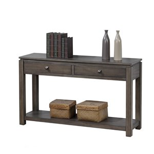 Sunset Trading Shades of Gray Coffee Table with Drawers and Shelf - 53-in - Grey