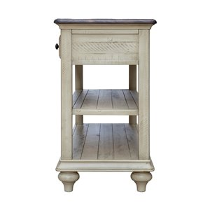 Sunset Trading Shades of Sand Console Table - 52.5-in - White