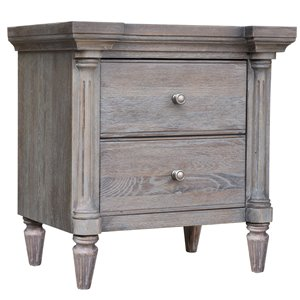 Sunset Trading Fawn 2-Drawer Country Nightstand - 28-in x 27-in - Grey