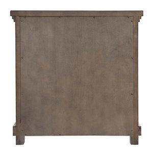 Sunset Trading Crossing Barn 3-Drawer Nightstand - 28-in x 27-in - Grey