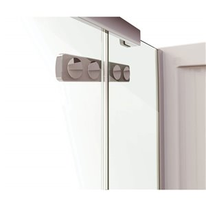 MAAX Hana Neo-Angle Shower Kit with Base - 42-in x 34-in x 78-in - Chrome - 2-Piece