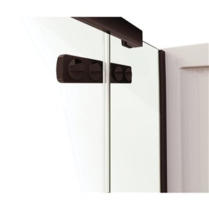 MAAX Hana Neo-Angle Shower Kit with Base and Wall - 42-in x 34-in x 78-in - Dark Bronze - 3-Piece