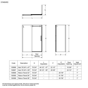 MAAX Utile Corner Shower Kit with Right Drain - 60-in x 32-in x 84-in - Marble Carrara/Chrome - 5-Piece
