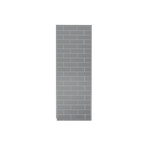 MAAX Utile Alcove Shower Kit with Central Drain - 48-in x 32-in - Ash Grey - 4-Piece