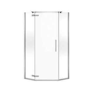 MAAX Hana Neo-Angle Shower Kit with Base - 40-in x 40-in x 78.75-in - Chrome - 2-Piece