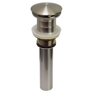American Imaginations Modern Brushed Nickel 1-Handle Vessel Bathroom Sink Faucet - 5.51-in