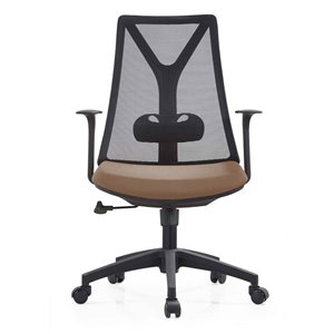 American Imaginations Brown and Black Contemporary Manager Chair - 25.59-in x 41.34-in