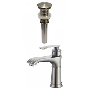 American Imaginations Classic Brushed Nickel 1-Handle Single-Hole Bathroom Sink Faucet - 5.6-in
