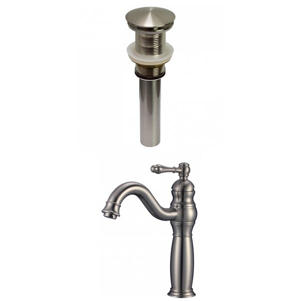 American Imaginations Classic Brushed Nickel 1 Handle Single Hole Bathroom Sink Faucet 7 44 In Lowe S Canada