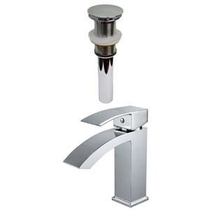 American Imaginations Warm Polished Chrome 1-Handle Single-Hole Bathroom Sink Faucet - 4.8-in