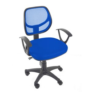 American Imaginations Black and Blue Contemporary Manager Chair - 23.23-in x 37.4-in