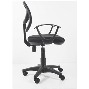 American Imaginations Black Contemporary Manager Chair - 23.23-in x 37.4-in