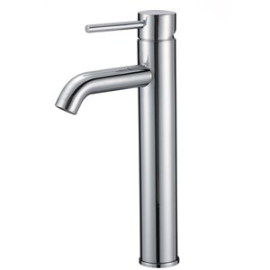 American Imaginations Polished Chrome 1-Handle Vessel Bathroom Sink Faucet - 5.51-in
