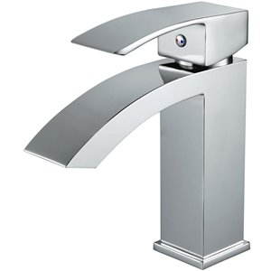American Imaginations Polished Chrome 1-Handle Single-Hole Bathroom Sink Faucet - 4.8-in