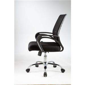 American Imaginations Black Traditional Manager Chair - 21.7-in x 38.2-in