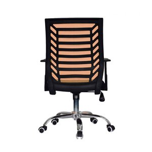 American Imaginations Black and Orange Transitional Manager Chair - 24.8-in x 38.2-in