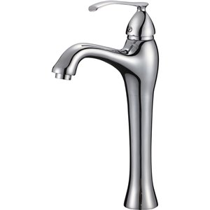 American Imaginations Polished Chrome 1-Handle Vessel Bathroom Sink Faucet - 6.3-in