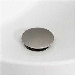 American Imaginations Modern Brushed Nickel 1-Handle Vessel Bathroom Sink Faucet - 6.3-in