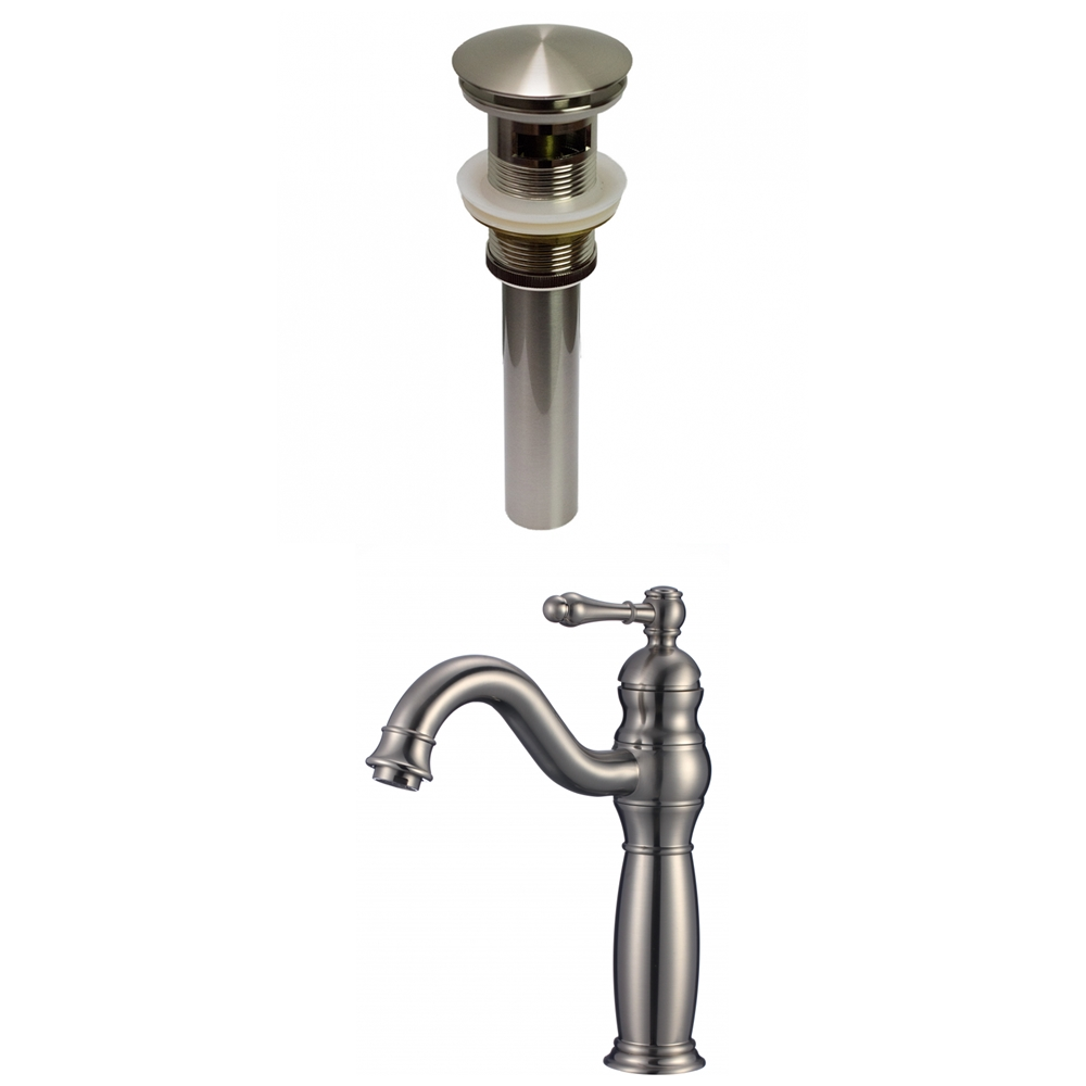 American Imaginations Stylish Brushed Nickel 1 Handle Single Hole Bathroom Sink Faucet 7 44 In Lowe S Canada