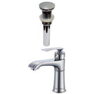 American Imaginations Elegant Polished Chrome 1-Handle Single-Hole Bathroom Sink Faucet - 5.6-in