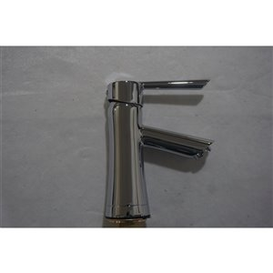 American Imaginations Stylish Polished Chrome 1-Handle Single-Hole Bathroom Sink Faucet - 3.9-in