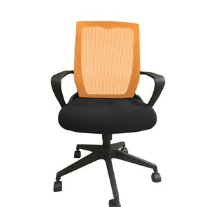 American Imaginations Orange and Black Contemporary Manager Chair - 22.05-in x 42.52-in
