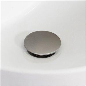 American Imaginations Brilliant Brushed Nickel 1-Handle Single-Hole Bathroom Sink Faucet - 6.1-in
