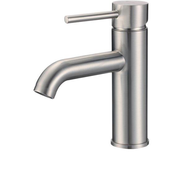 American Imaginations Brushed Nickel 1 Handle Single Hole Bathroom Sink Faucet 5 91 In Lowe S Canada