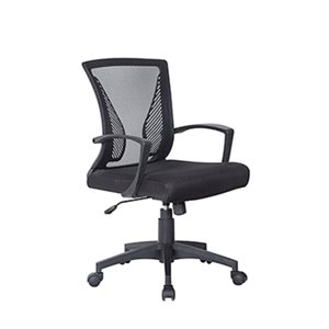 American Imaginations Black Contemporary Manager Chair - 23.62-in x 39.37-in