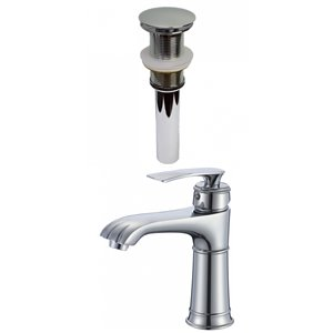 American Imaginations Stylish Polished Chrome 1-Handle Single-Hole Bathroom Sink Faucet - 5.6-in