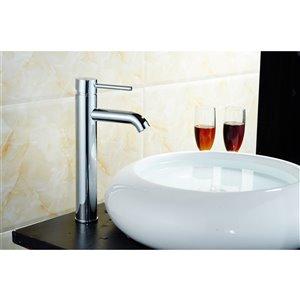 American Imaginations Modern Polished Chrome 1-Handle Vessel Bathroom Sink Faucet - 5.51-in