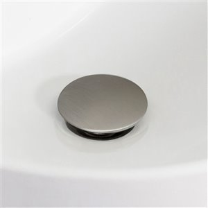 American Imaginations Modern Brushed Nickel 1-Handle Single-Hole Bathroom Sink Faucet - 5.6-in