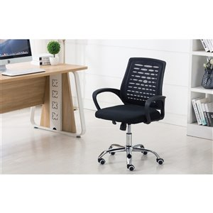 American Imaginations Black Transitional Manager Chair - 25.2-in x 40.2-in