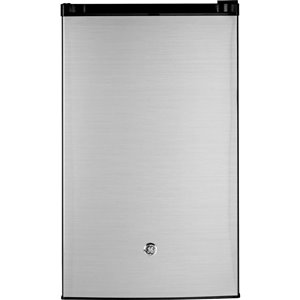 GE GE 4. 4 Cu Ft Compact Refrigerator- Stainless Steel