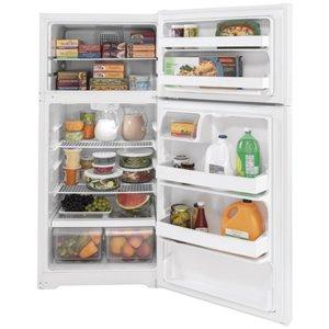 GE 15.6-cu ft Top-Freezer Refrigerator (White) ENERGY STAR