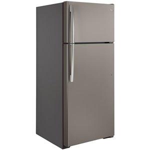 GE 17.5-cu ft Top-Freezer Refrigerator (Slate) ENERGY STAR