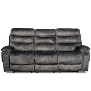 Mazin Industries Maurice Modern Gray Polyester Sofa