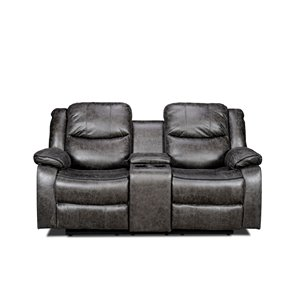 Mazin Industries Klaus Modern Antique Gray Microfiber Loveseat