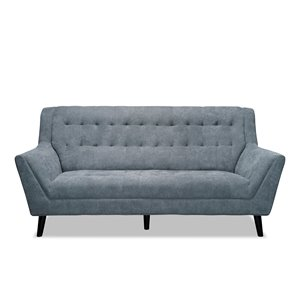 Mazin Industries Erath Midcentury Gray Polyester Sofa