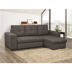 Mazin Industries Clemente Modern Gray Linen Sectional
