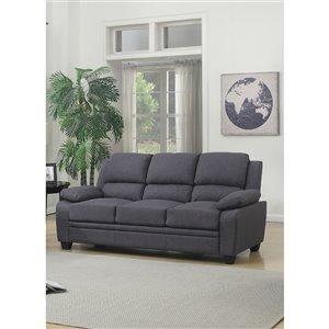 Mazin Industries Darien Casual Gray Polyester Sofa