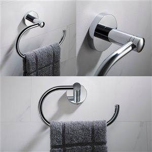 Kraus Indy Bathroom Faucet Accessory Set - 4 Pieces - Chrome