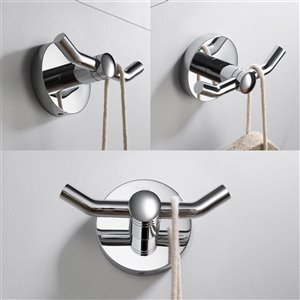Kraus Indy Bathroom Faucet and Accessory Set - 4 Pieces - Chrome
