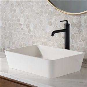 Kraus Single Handle Vessel Bathroom Faucet with Drain - 2 Pack - Matte Black