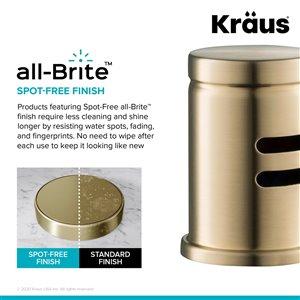 Kraus Spot-Free Dishwasher Air Gap - Antique Champagne Bronze